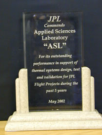 JPL Commendation, May, 2002
